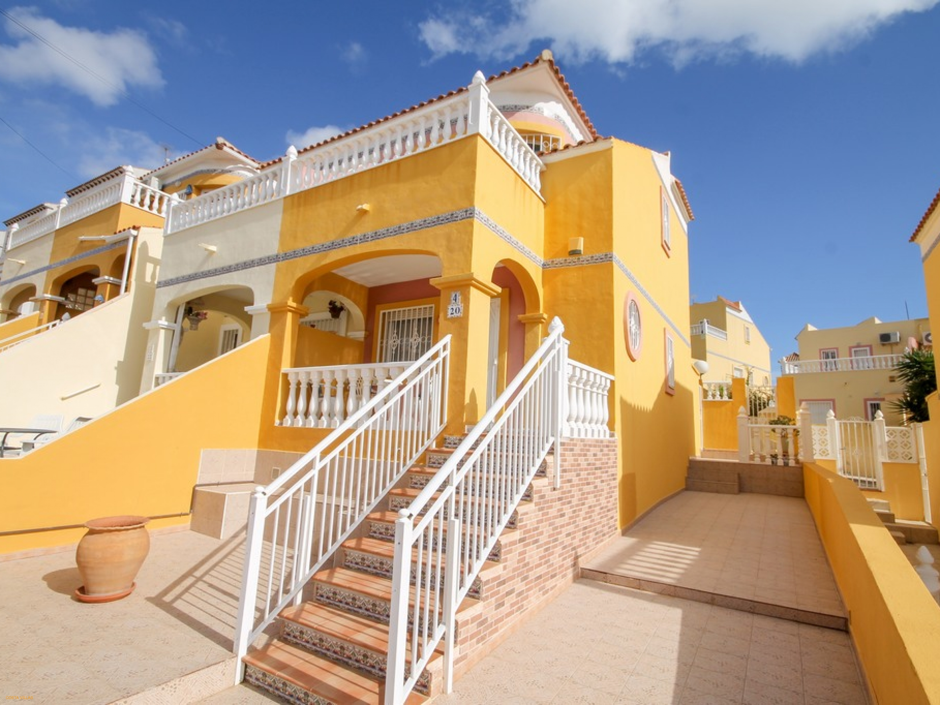 Semi detached property with direct access to a communal pool